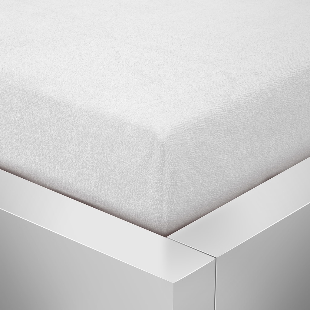 Homeville Homeville froté prostěradlo bílá - 180x200 cm