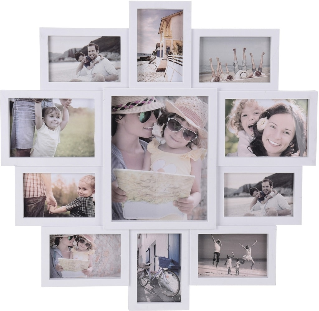 Home collection Rám na 11 fotek 61x61 cm bílá