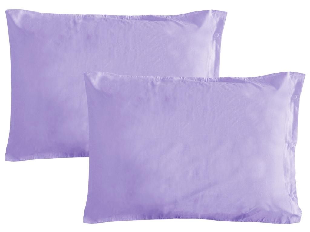 Gipetex Natural Dream Obliečka na vankúš talianskej výroby 100% bavlna - 2 ks fialová - 2 ks 70x90 cm