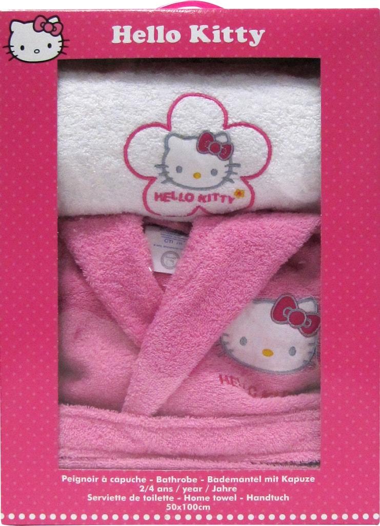CTI CTI Župan Hello Kitty Lucie darčeková sada s uterákom - 6 až 8 let (vel. 110-128)