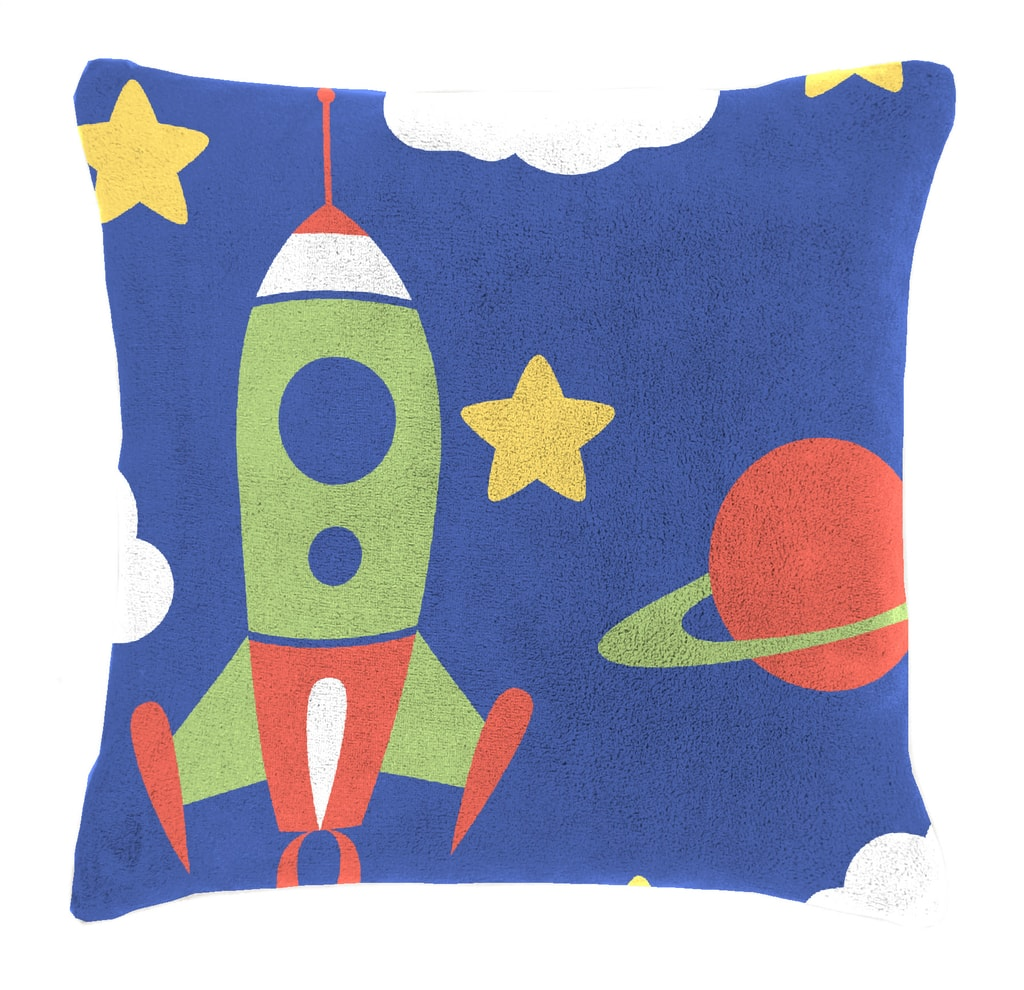 Mistral home Detský vankúšik baránok Mistral Home Space vesmírne lode 40x40 cm