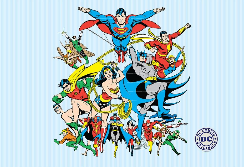 1Wall 1Wall detská fototapeta DC Comics 158x232 cm