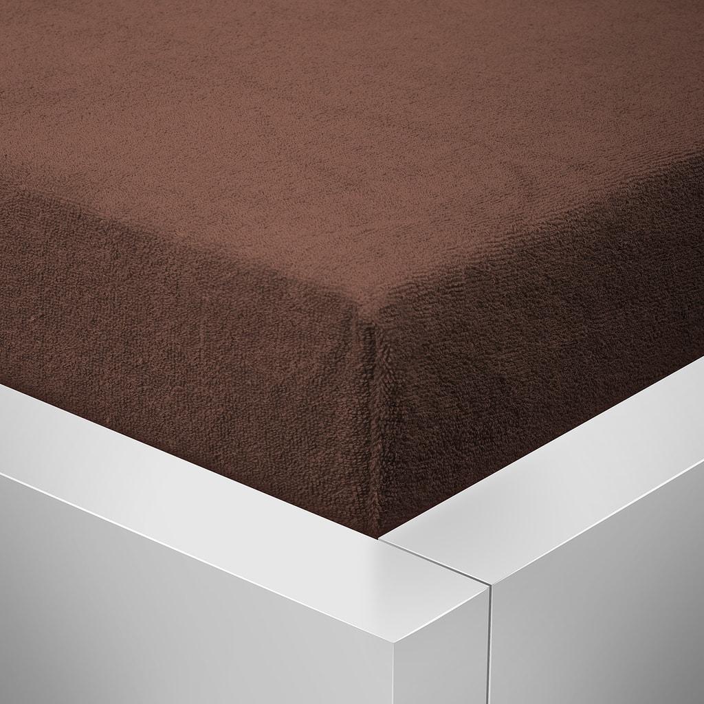 Homeville Homeville froté prostěradlo čokoláda - 180x200 cm