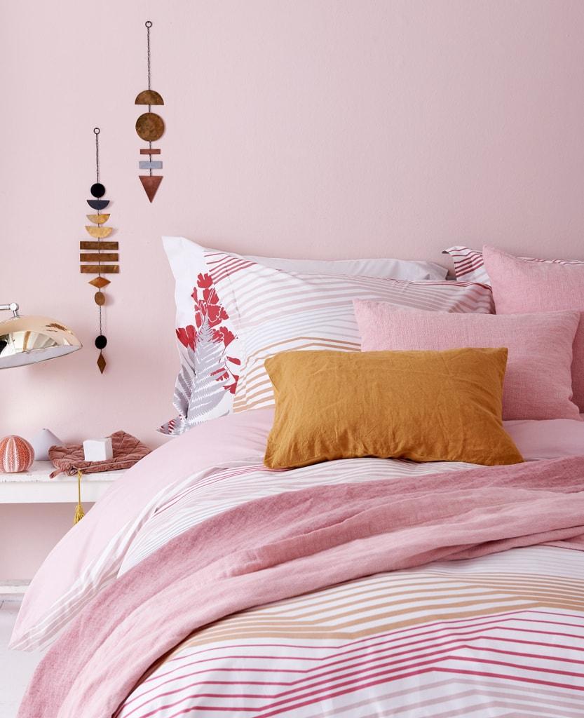 Vandyck Luxusní bavlněné povlečení VANDYCK Multiply Faded pink - 200x200-220 / 60x70 cm