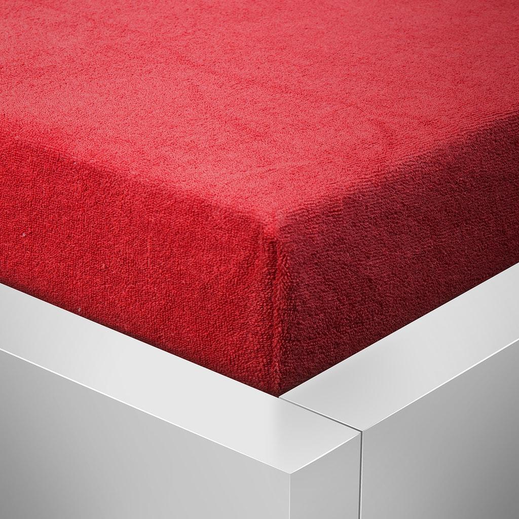 Homeville Homeville froté prostěradlo červená - 180x200 cm