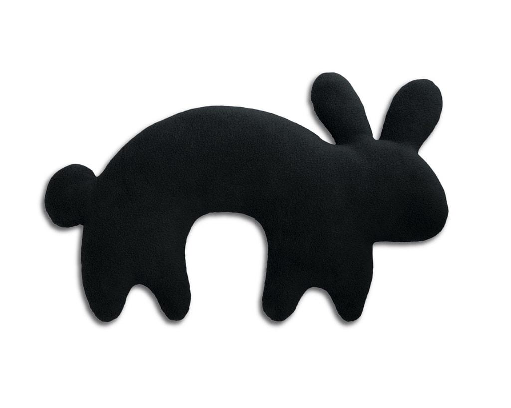 Leschi Cestovní polštářek králík Paulo 46x27cm černá/černá