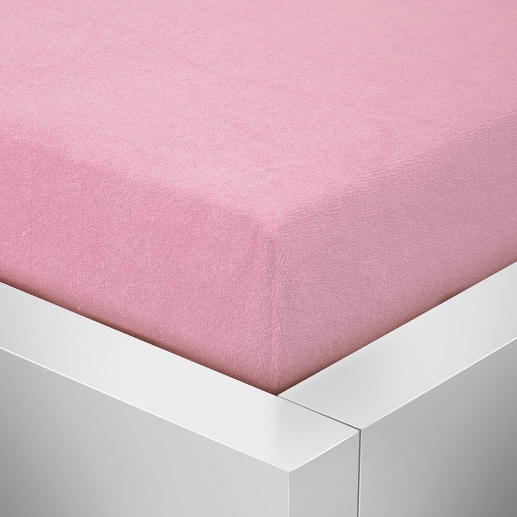 Homeville Homeville froté prostěradlo růžová - 180x200 cm
