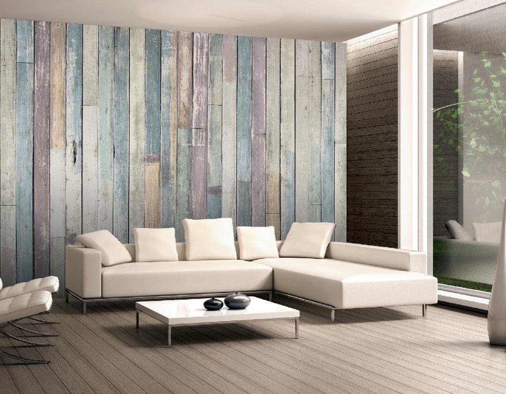 1Wall 1Wall Vliesová fototapeta Drevené obloženie steny 366x253 cm