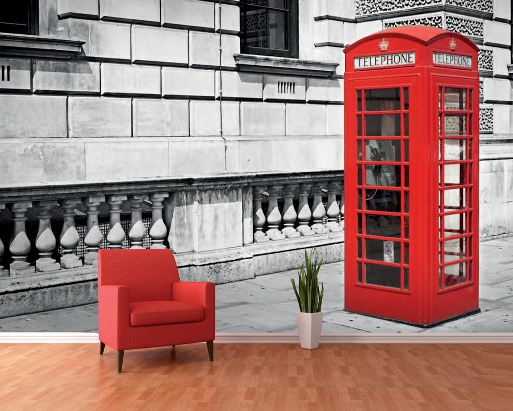 1Wall 1Wall fototapeta Londýnska búdka 360x253 cm