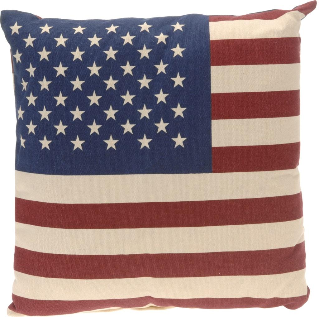 Home collection Dekoračný vankúš Americká vlajka 40x40 cm