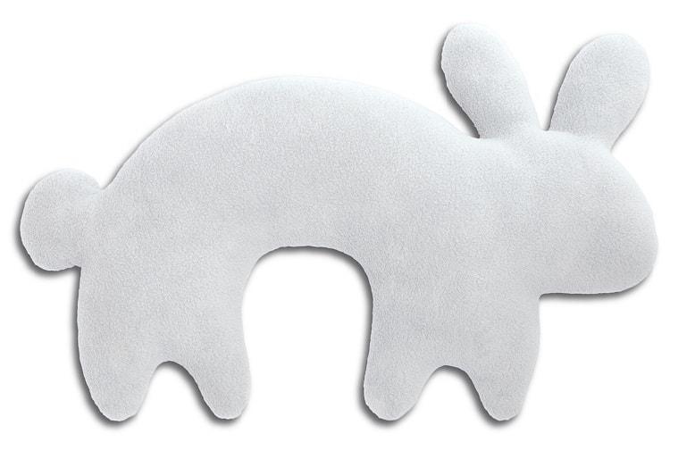 Leschi Cestovní polštářek králík Paulo 46x27cm sv. šedá/černá