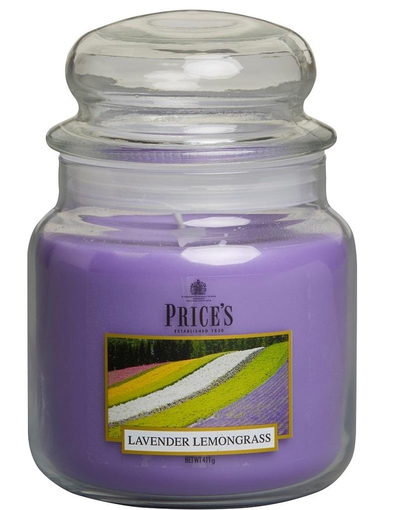 Price´s SIGNATURE MIDI svíčka ve skle Levandule&Lemongrass, hoření 90h