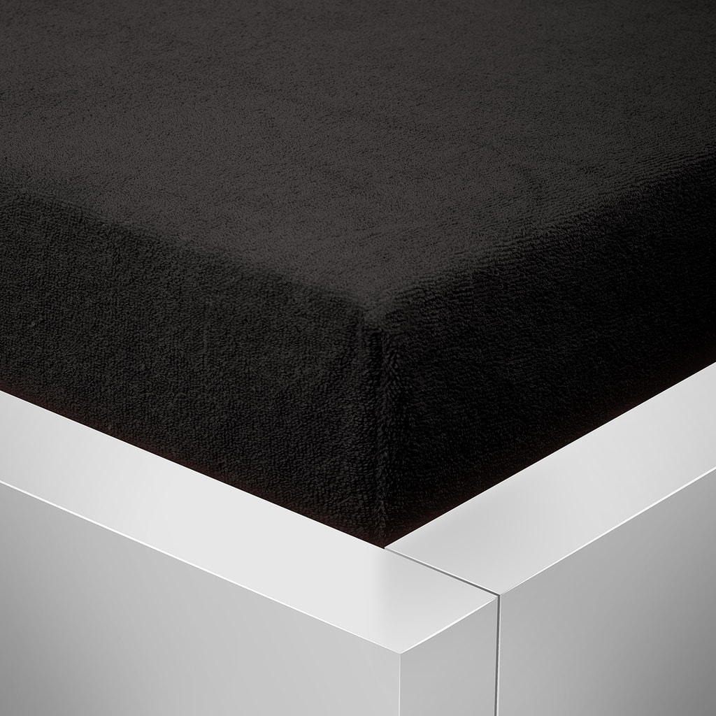 Homeville Homeville froté prostěradlo černá - 180x200 cm